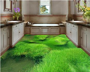 Decoratie Badkamer Muur : 3 d pvc vloeren custom 3d badkamer vloeren behang 3 d aquatic