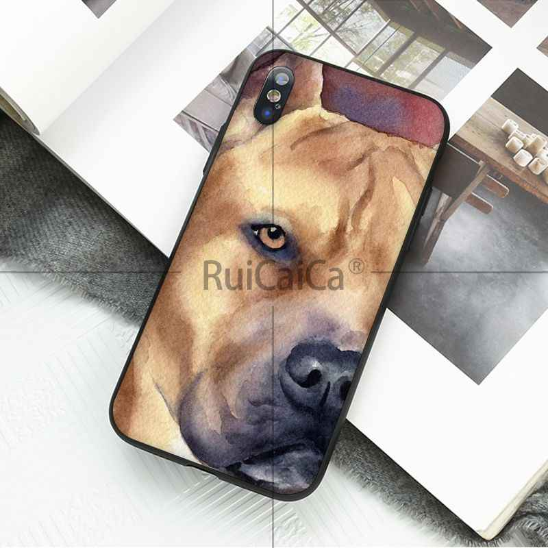 Pit Bull Ruicaica Lovely Dog Pet Pitbull Padrão Caso de Telefone Celular para Apple iPhone 8 7 6 6 S Plus X XS MAX 5 5S SE XR Casos Móveis