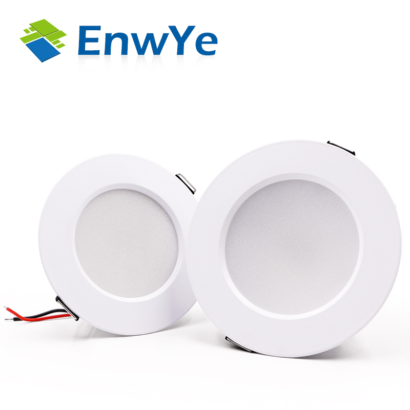 12V Single Cabinet Lights BY KINGSWAY White Finish DEAL OF THREE Circular