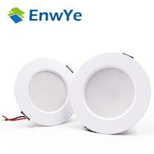 Enwye led downlight teto 5w 7 9 12 15 quente branco/branco frio led luz ac 220v 230v 240v