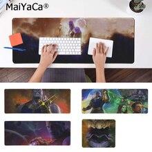 MaiYaCa Non Slip PC Marvel Heroes Thanos Natural Rubber Gaming mousepad Desk Mat Free Shipping Large Mouse Pad Keyboards