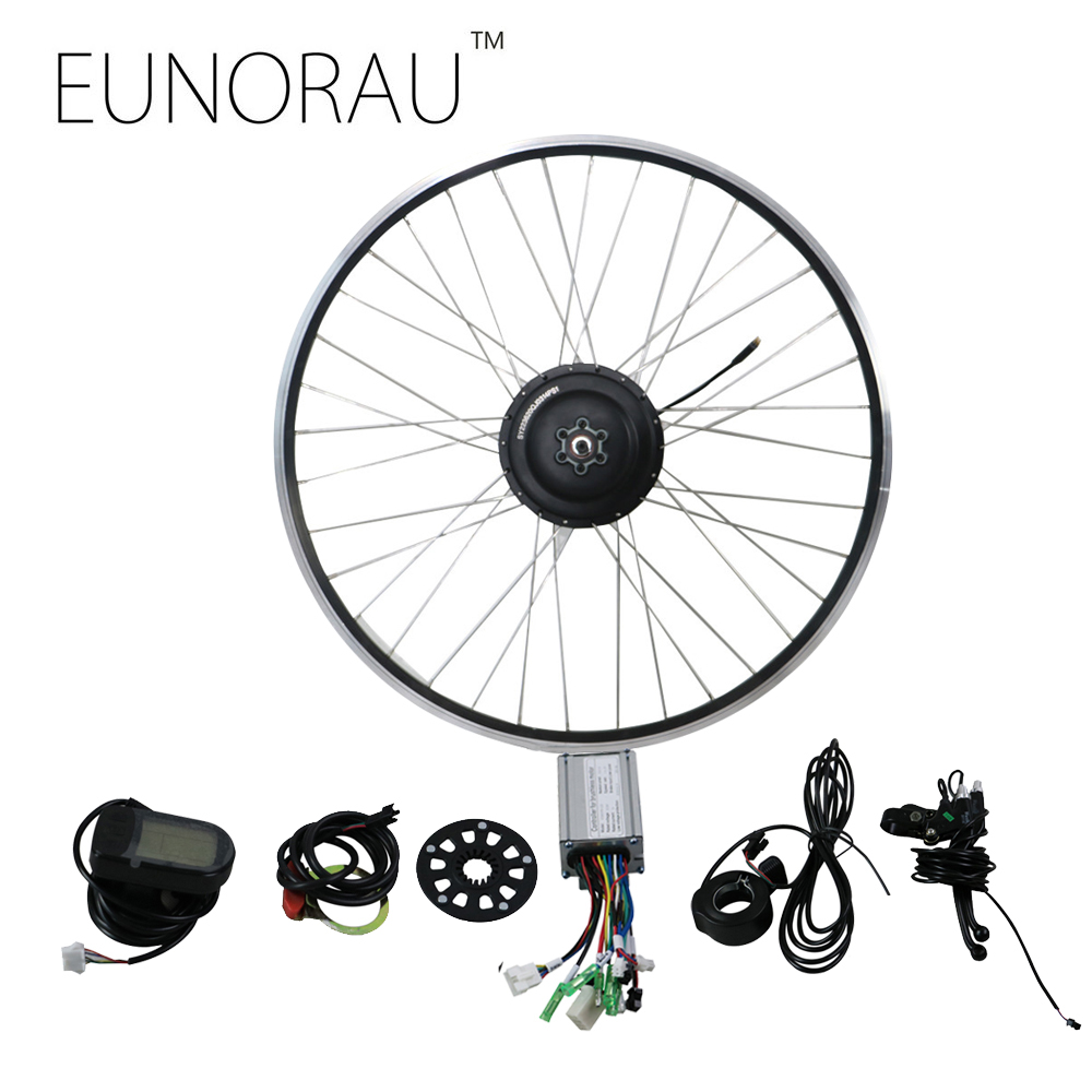 EUNORAU 48V500W electric bicycle rear cassette hub motor 20'' 26'' 28'' rim wheel Ebike motor Conversion Kit eunorau 48v500w electric bicycle rear cassette hub motor 20 26 28 rim wheel ebike motor conversion kit