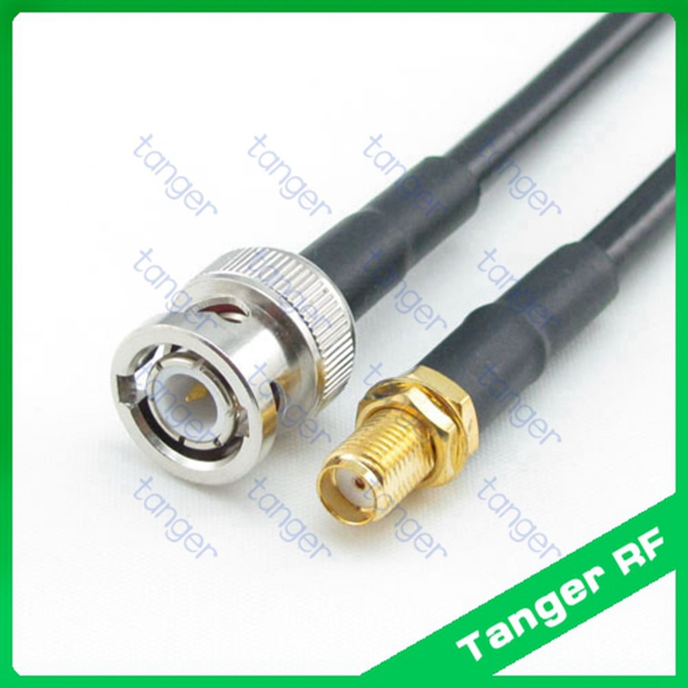 Hot sale Tanger BNC male plug to SMA female jack connector RF RG58 Pigtail Jumper Coaxial Cable 3Feet 40inch 100cm High Quality bnc male right angle plug to rp sma female jack adapter 15cm 6 rf coaxial cable pigtail connector