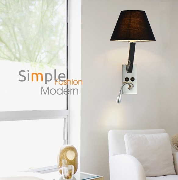Simple Creative Fabric Wall Sconce Band Switch Modern LED Wall Light Fixtures For Bedside Wall Lamp Home Lighting Lampara Pared led wall sconce wooden simple modern wall lamp fixtures bedroom indoor lighting luminaire lampara pared wandlamp