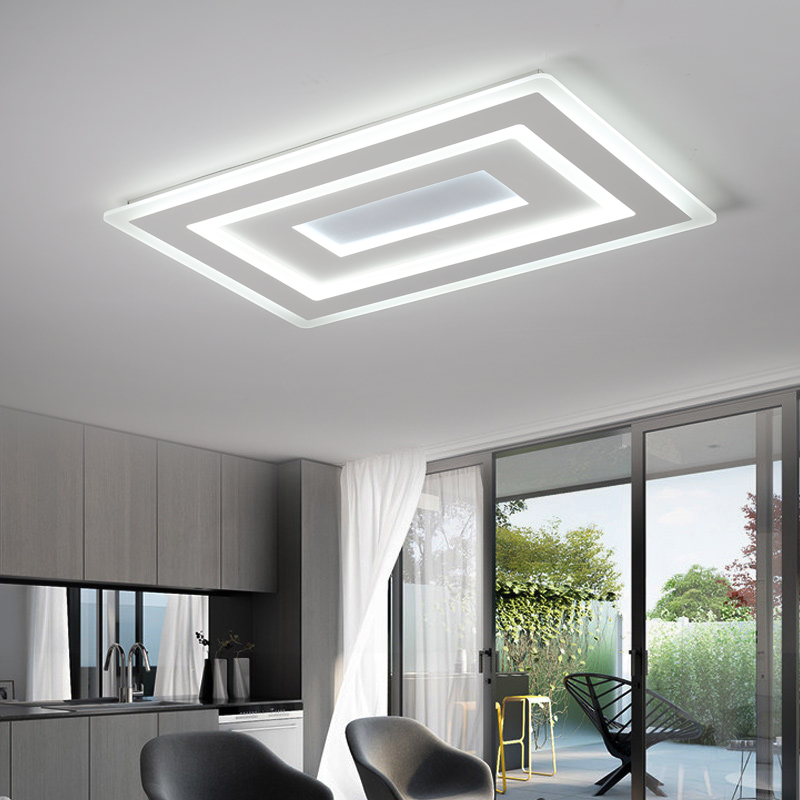Modern LED Ceiling lights Acrylic Kitchen Indoor Lighting Ceiling lamp For Dining Room Living Room Lamp De Techo Luminaire modern led acrylic ceiling lights for parlor lampada led hotel hall led strip acrylic led strip indoor lighting luz de techo