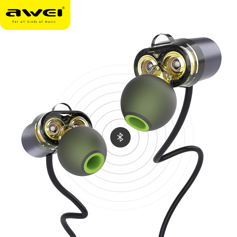 AWEI X650BL Bluetooth Earphone Wireless Headphone Neckband Headset Earpiece For Phone Casque Auriculares Kulakl k Fone de ouvido awei es 10ty metal earphone stereo headset in ear noise reduction auriculares headphone with microphone for phone kulakl k
