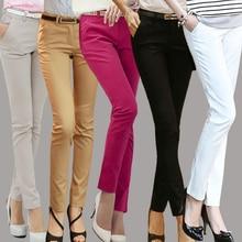 Business Suit Pants For Women 2018 Ladies Black White Red Formal Office Work Trousers Pencil Pants Plus Size Pantalon Leggings