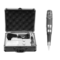 Permanent Makeup Kit 5 Color Professional Eyebrow Tattoo Machine Power Supply Silver Tattoo Makeup Equipment Tool