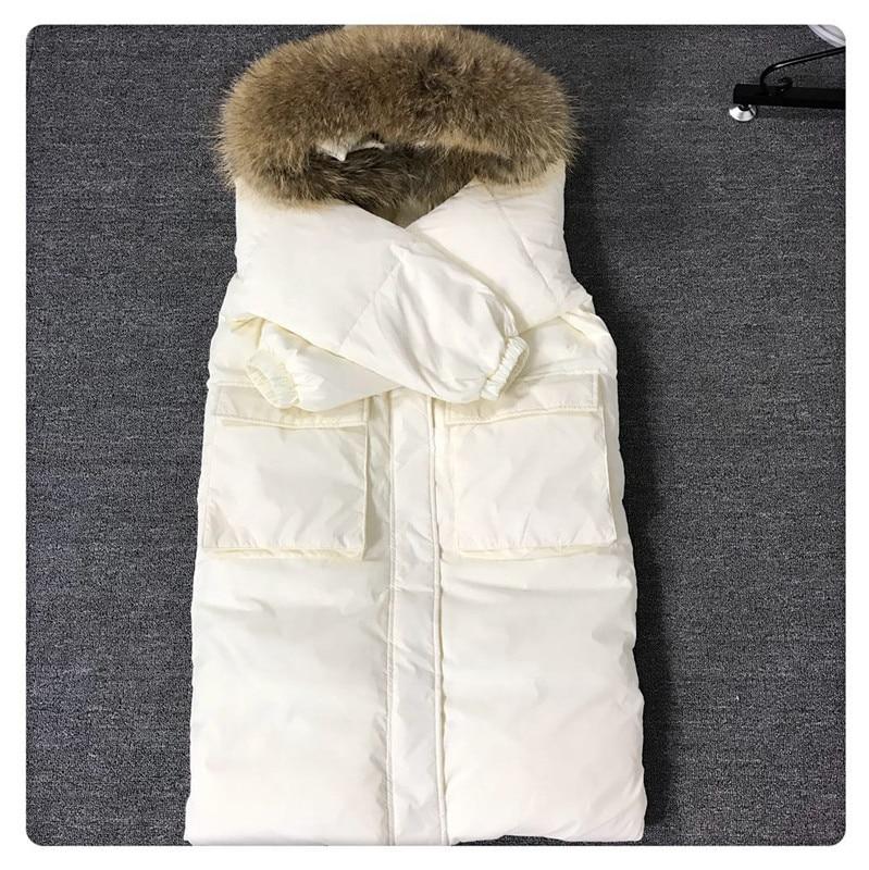 Grand Outwear Blanc D'hiver Conception De Moyen yellow Poche white Longue Cheveux Duvet Vestes Canard Casual Parkas Grande Neige Black Overknee Col Femmes Ftlzz wqWdHI88