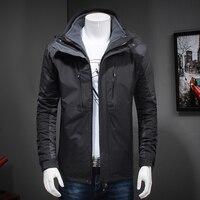 2018 Новый 8XL 6XL 5XL 4x2 в 1 Fit куртка бренд Водонепроницаемый ветровка куртка зимняя куртка Для мужчин мужской пальто дождь куртка парка