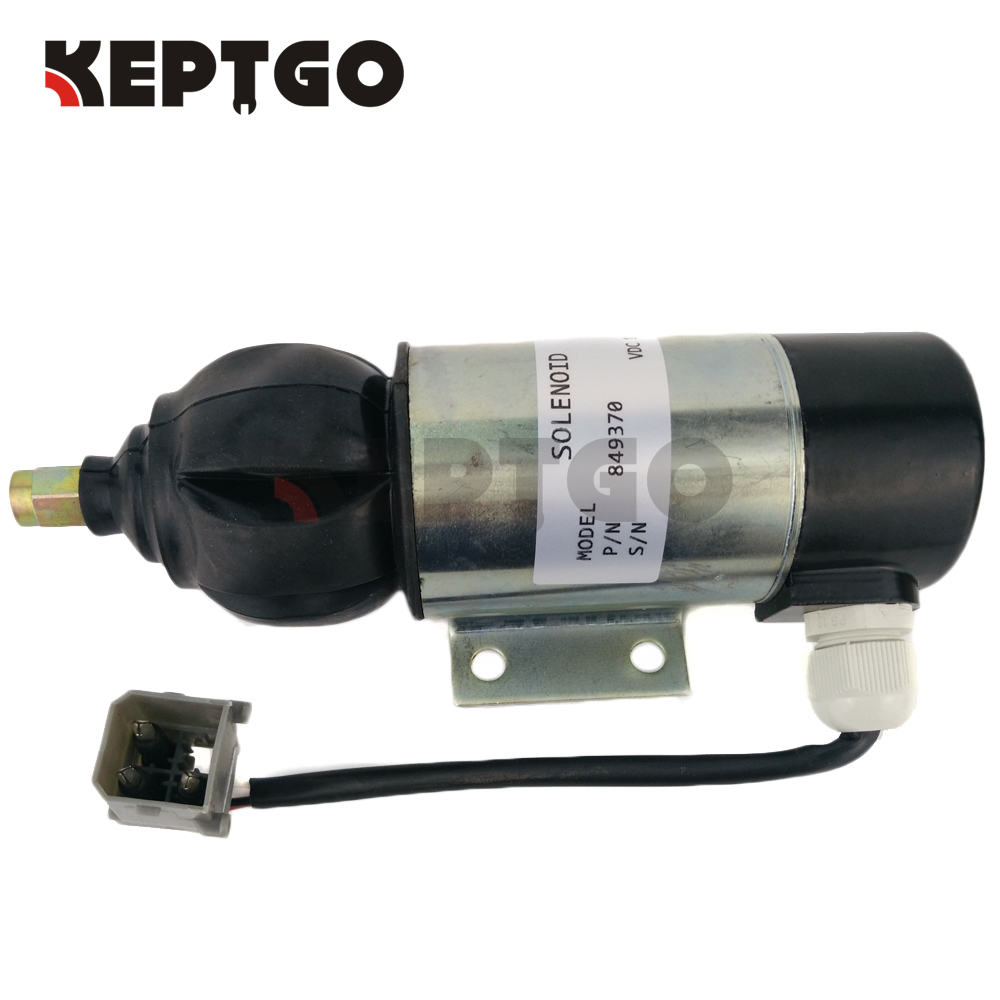 Fuel Shutdown Solenoid Valve 849370, 859079, 872826, 12V For Perkins 2006,3008,3012 Series new scv 096710 0130 096710 0062 fuel suction control valve for toyota