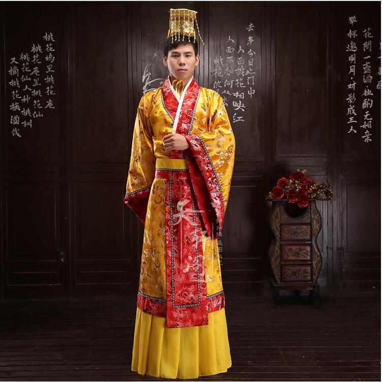 Chinese emperor costume Sovereign dress Hanfu Ancient chinese costume black and coffee 2 colors hair tiara ancient chinese emperor or prince costume hair crown piece cosplay use for kids little boy