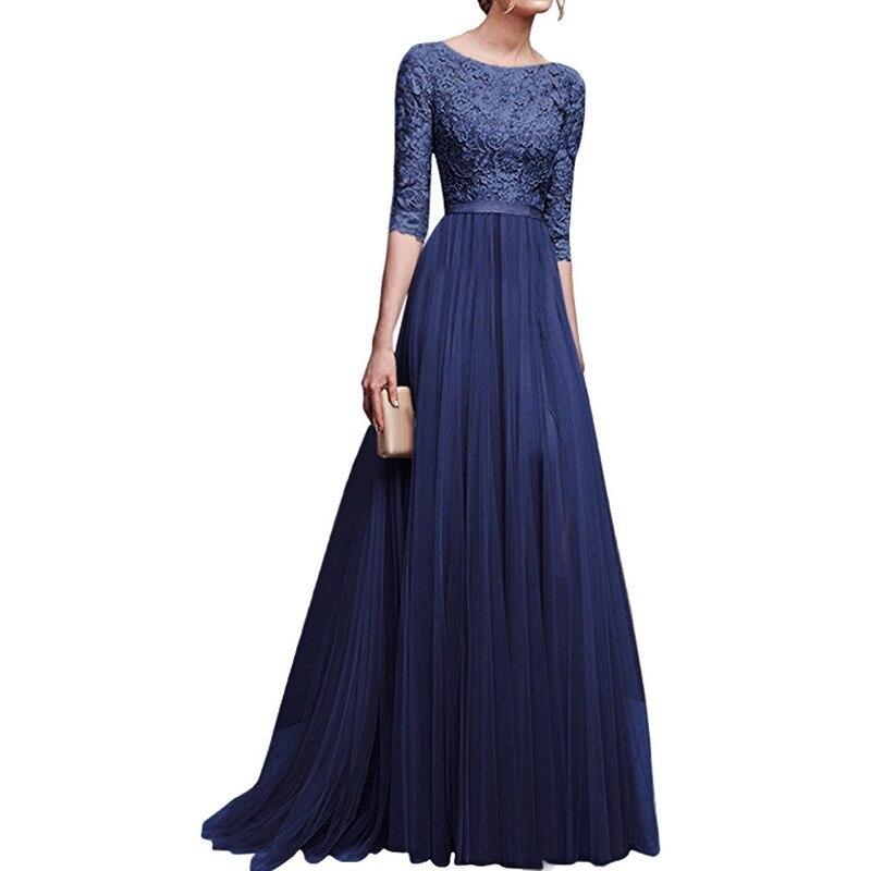 MoYan Women Party Dresses Robe Femme Plus Size Summer Chiffon Sequined Long Dresses Lady Female Vintage Vestidos Elegant robe demoiselle d honneur manches longue
