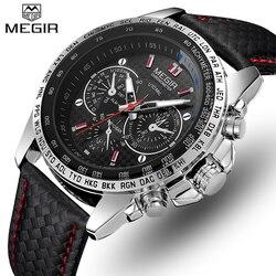 MEGIR Mens Watches Top Luxury Brand Men Analog Quartz Watch Men Fashion Casual Luminous Waterproof Clock Relogio Masculino