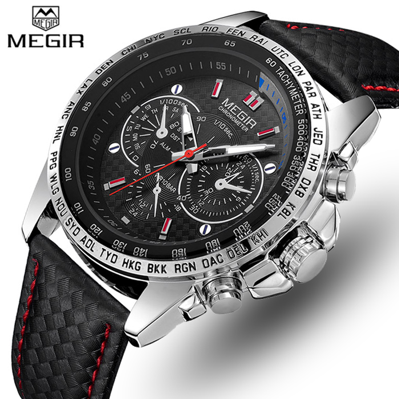 MEGIR Mens Watches Top Luxury Brand Men Analog Quartz Watch Men Fashion Casual Luminous Waterproof Clock Relogio Masculino