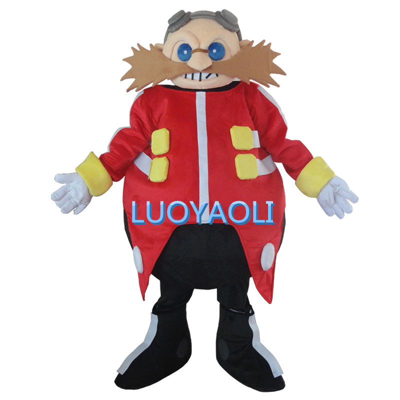 Smart Yellow Doctor Sonic The Hedgehog Mascot Costume