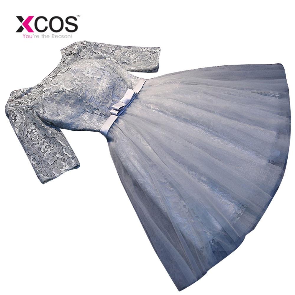 Short   Bridesmaid     Dress   2019 New Elegant Wedding Party   Dresses   Backless Sexy Scoop Formal Prom   Dress   Robe De Soiree