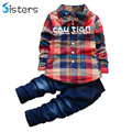 2017 Spring Hot Boys Suits Clothes Sets Children's Fashion Plaid Suit Boys Clothes Baby Kids Kids Costumes Boy Sets Clothing Set