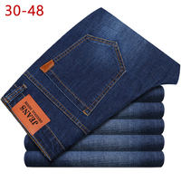 Big Size 44 46 48 Jeans Men New Stretch Cotton Breathable Male Spring Autumn Denim Long Pant Lightweight Jeans Work Leisure Pant