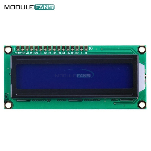 LCD1602 1602 Module Blue Screen 16x2 Character LCD Display Module HD44780 Controller Blue Blacklight
