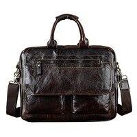 Brand New Large Genuine Full Grain Leather Briefcase Men S Handbag Shoulder Messenger Bag Bussiness OL