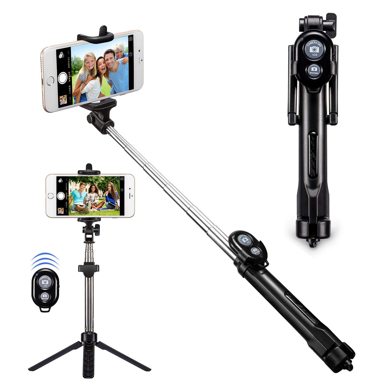 T1 Bluetooth trípode remoto selfie Stick Mini Monopod extensible Universal Pau De Palo selfie stick para iphone7 7 p 8 8 P X