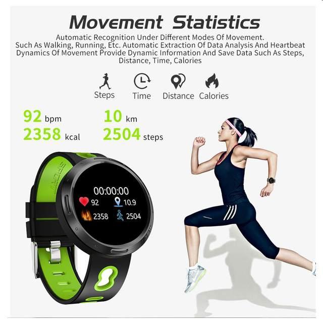 Smart Watch Fitness Tracker Men Blood Pressure Heart Rate Tracker Swim Sport SmartWatch Women Multi-language Watches Android ios