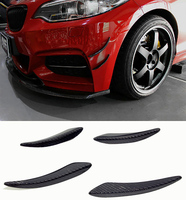 E Style Carbon fiber Front Spoiler Splitter Canard Fit For BMW F22 M Sport