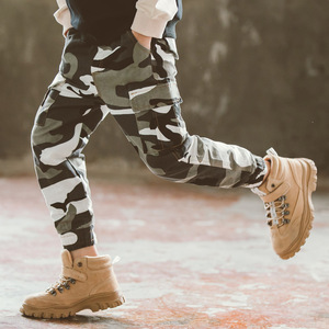 Fashion Korean Camouflage Pant for Big Boys Cotton Harem Pants Kids Spring Autumn Sports Pants Teen Trousers Clothes 8 12 13 Yrs