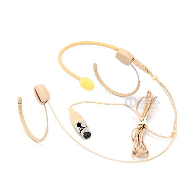 Mini XLR 4 broches TA4F double oreillette système de Microphone pour SHURE bandeau sans fil micro PG1 PG4 PG88 PG1288 PG58 PG14 UT1 UR5