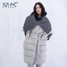 XianRan Women Down Coat Long Short Sleeves Belt Cotton Casual Winter Coat Plus Size Free Shipping