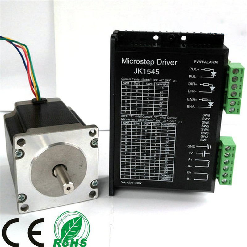Free Shipping 1pcs Driver + 1pcs stepper motor NEMA23 112mm 425oz-in 112mm 3.0A 23HS2430 for 3D Printer Robot Foam Plastic Metal free shipping nema23 425 oz in cnc stepper moto 3 0a cnc stepping motor 23hs2430