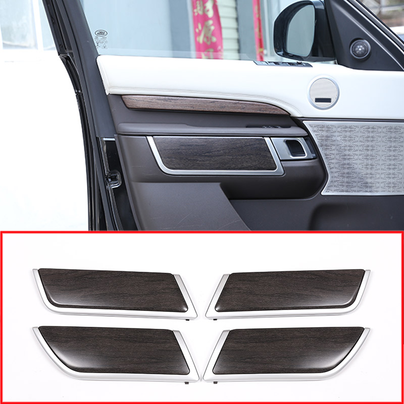 2018 Land Rover Discovery Interior: 4PCS Oak Wood Style ABS Plastic Door Decoration Strips