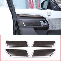 4PCS Oak Wood Style ABS Plastic Door Decoration Strips Trim For Land Rover Discovery 5 LR5 2017 2018 L462 Auto Replacement Parts