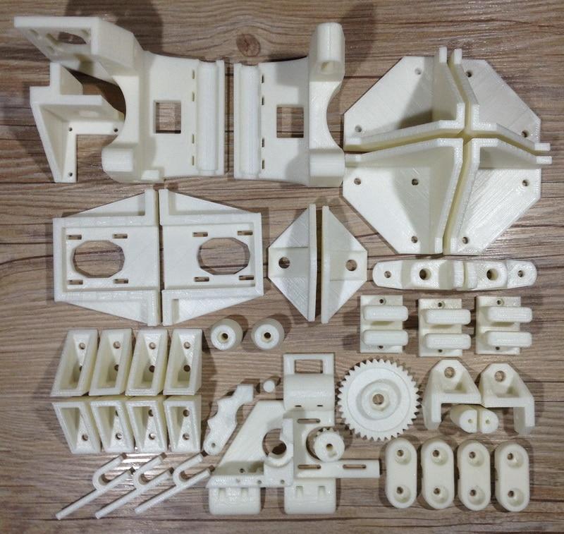 Reprap Adapto 3D Printer Parts Printed Parts Kit ABS Plastic Parts hot sale reprap wilson ts 3d printer required abs plastic parts set printed parts kit free shipping