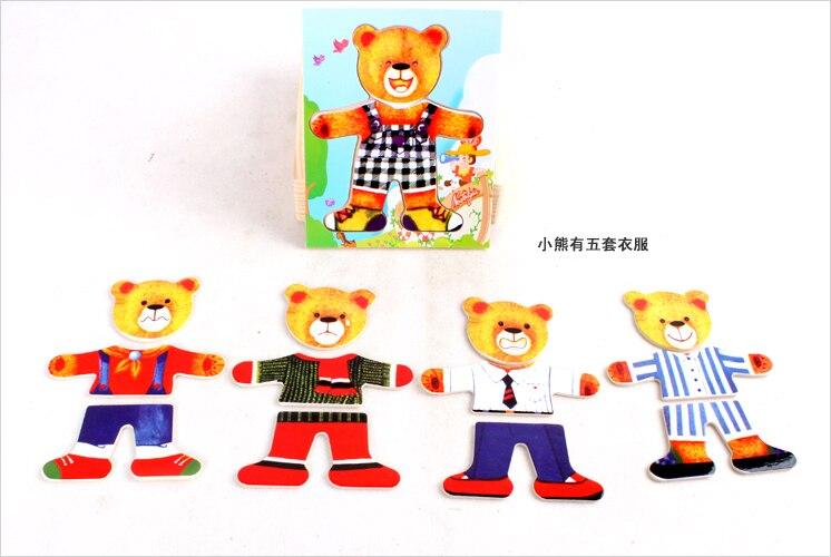 Горячие развивающие игрушки Деревянные Винни шкафчик коробка стерео пазл игрушка ребенка творческий подарок 1 шт.