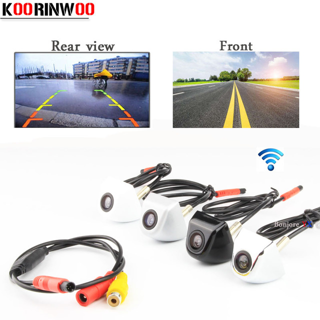 Koorinwoo HD CCD Car Rear View Camera Front camera Video System RCA Input Parking Camera Waterproof NTSC/PAL Parking System