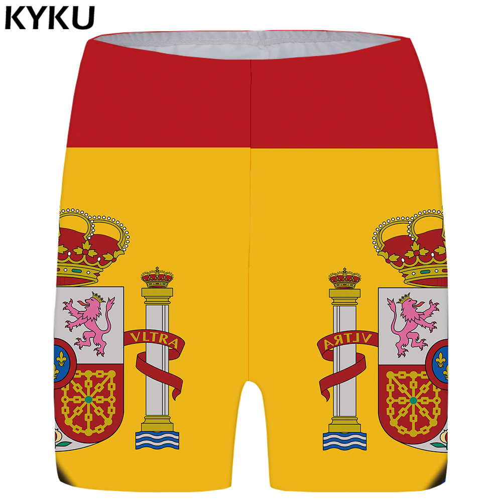 KYKU Brazilian Flag Shorts Women Lion Graphics Short Pants High Waist King 3d Printed Shorts Casual Sexy Ladies Shorts Womens