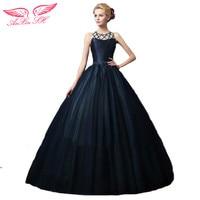 Anxin SH Синий невесты Кружево бисером вечернее платье Вышивка принцесса синий Вечерние платья Этап принцесса синий вечернее платье