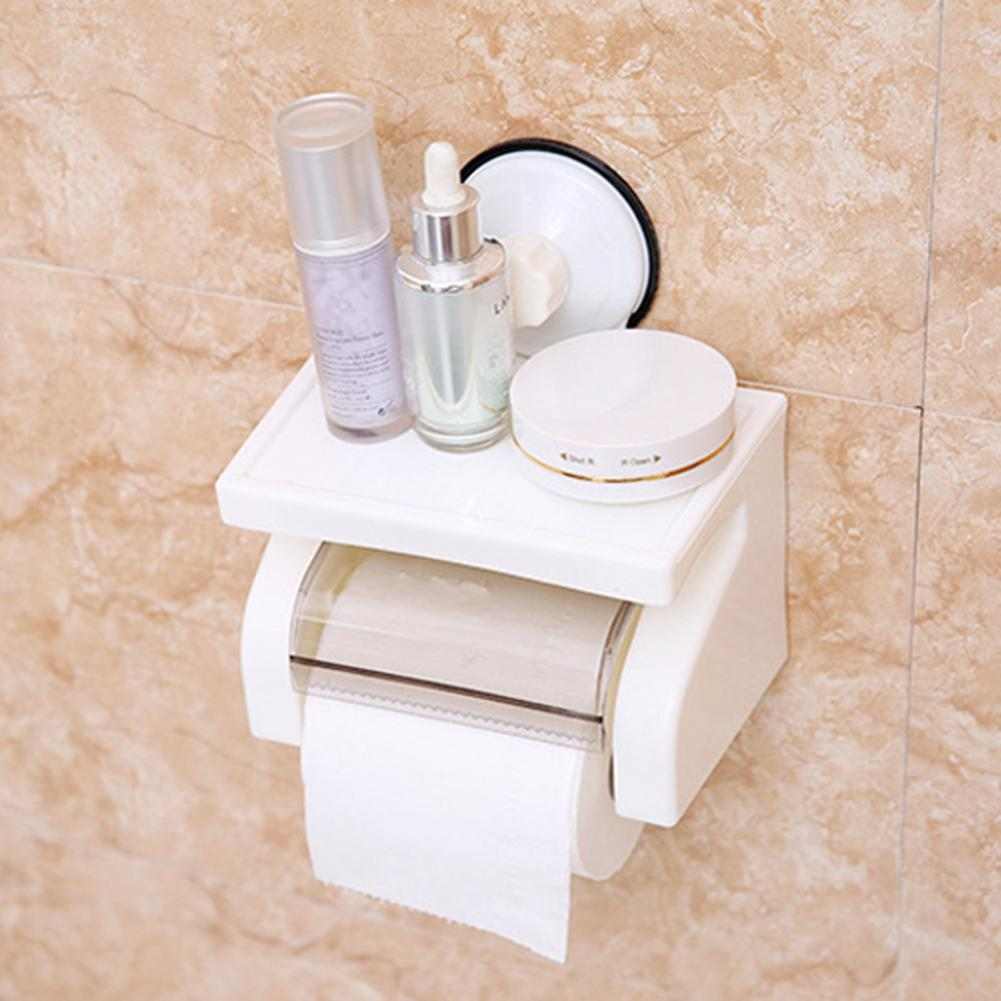 2 Types Screw-Mount/ Suction Cup Waterproof Plastic Toilet Paper Holder Rack Bathroom Modern Stylish Tissue Box 1Set J3 stylish cup