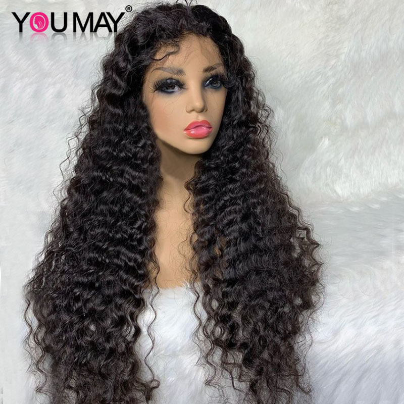 180 & 250 Denstiy Pineapple Curly 13x6 Lace Front Wig Brazilian Curly Lace Front Human Hair Wigs For Women You May Remy Wigs