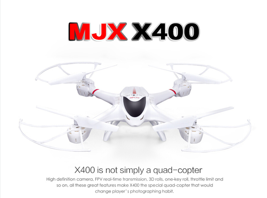 2016 New MJX X400 V2 2.4G 4CH RC Quadcopter 6-axis Gyro FPV UAV 3D Roll Auto Return Headless Helicopter RC Drone(Without Camera) квадрокоптер радиоуправляемый mjx bugs 3