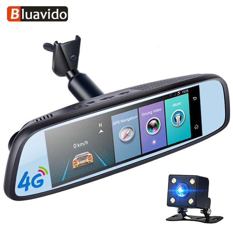 Bluavido 8 IPS 4G Car Rearview Mirror Android DVR ADAS GPS Navigetor FHD 1080P Video Camera Recorder Bluetooth WIFI 16G Dashcam