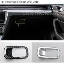 Co-piloto de armazenamento caixa de luva do carro moldura do painel guarnição lâmpada B8 1 pcs Para VW Volkswagen Passat Variante Sedan alltrack 2015 2016 2017 2018