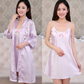 Robes Full Floral Rayon 2016 New Imitation Pajamas Female Xia Chunqiu Sling Sexy Nightgown Two Piece Suit Home Furnishing