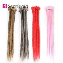 SAMBRAID Handmade Dreadlocks Extension Synthetic Braiding Hair For Faux locks 20 Inch  Soft Crochet Braids
