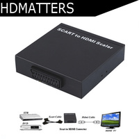 HDmatters EU Scart to HDMI converter Scaler cable adapter Scart in hdmi HDMI out with power adapter up to 720P