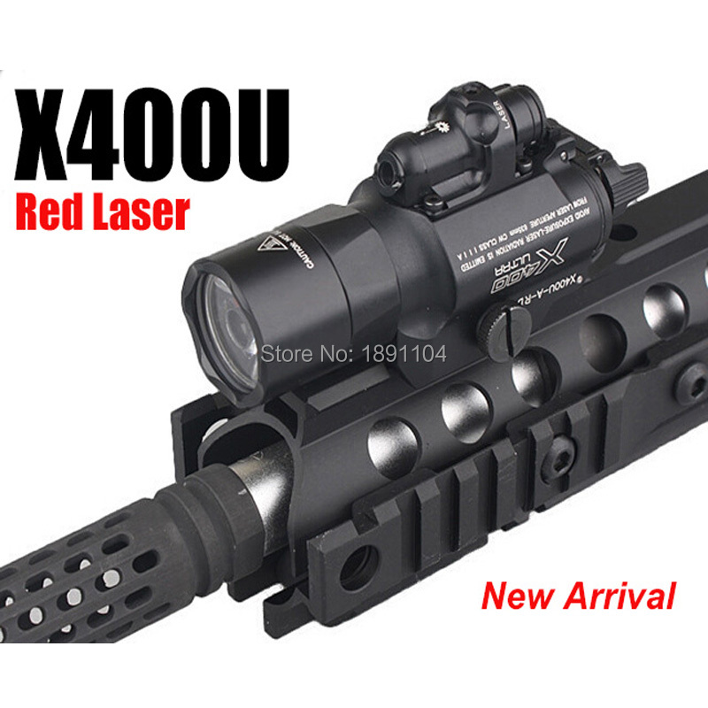 Element X400 Ultra LED Weapon Light With Red Laser Sight For Pistol or Hunting EX 367