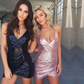 2017 moda primavera verão spaghetti strap bodycon mini dress mulheres do partido sexy night club dress vestido femme vestidos de lantejoulas