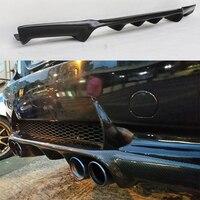 V Style Carbon Fiber Rear Bumper Lip Diffuser For BMW e90 M3 Bumper 2005~2008